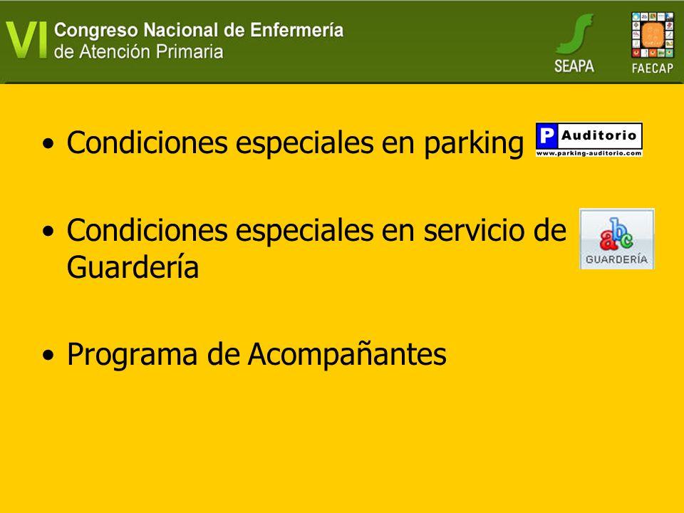 Condiciones especiales en parking