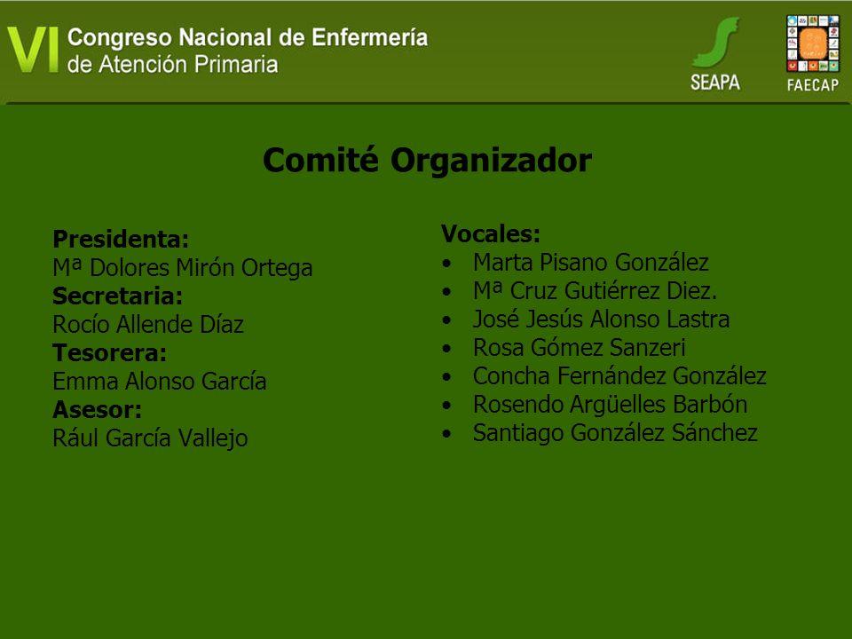 Comité Organizador Vocales: Marta Pisano González Presidenta: