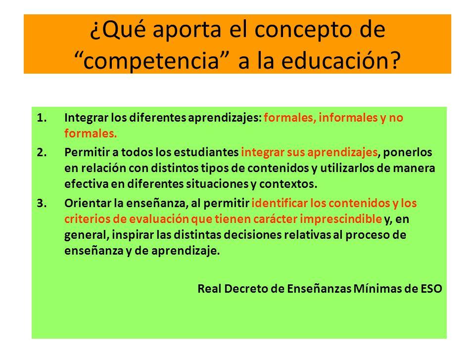¿Qué aporta el concepto de competencia a la educación