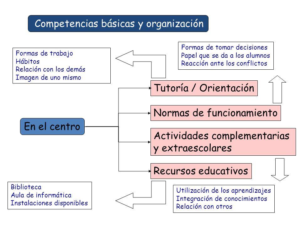 Competencias básicas y organización