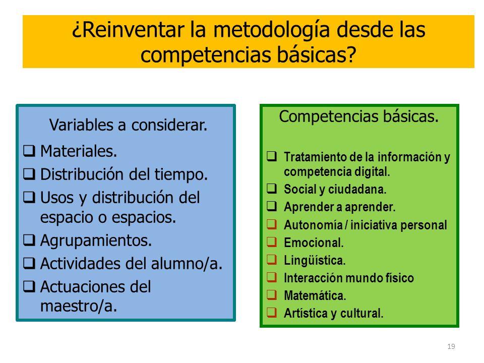 ¿Reinventar la metodología desde las competencias básicas