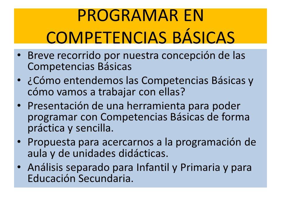 PROGRAMAR EN COMPETENCIAS BÁSICAS