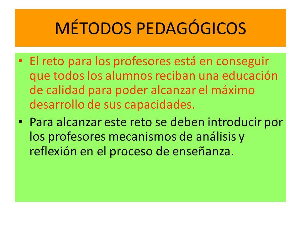 MÉTODOS PEDAGÓGICOS