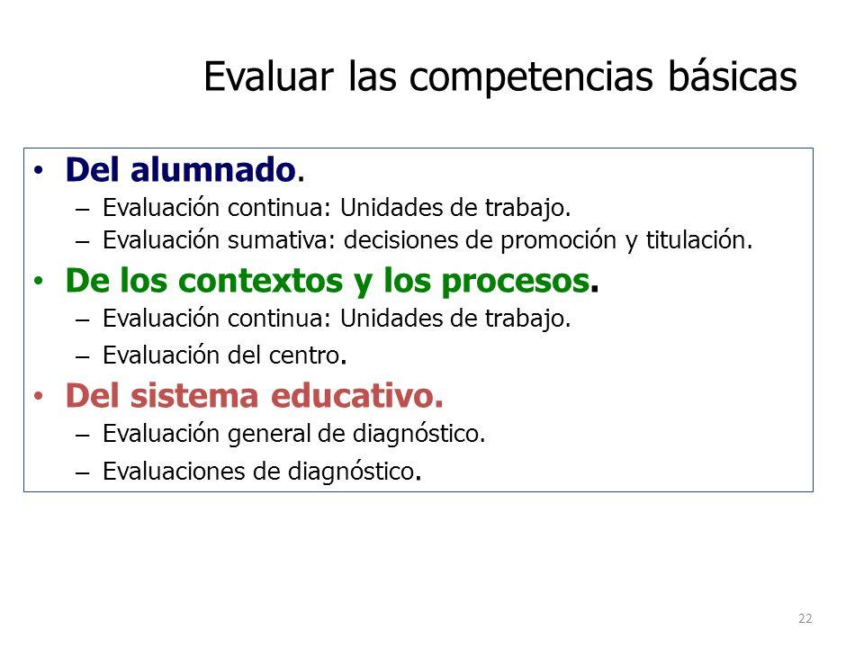 Evaluar las competencias básicas