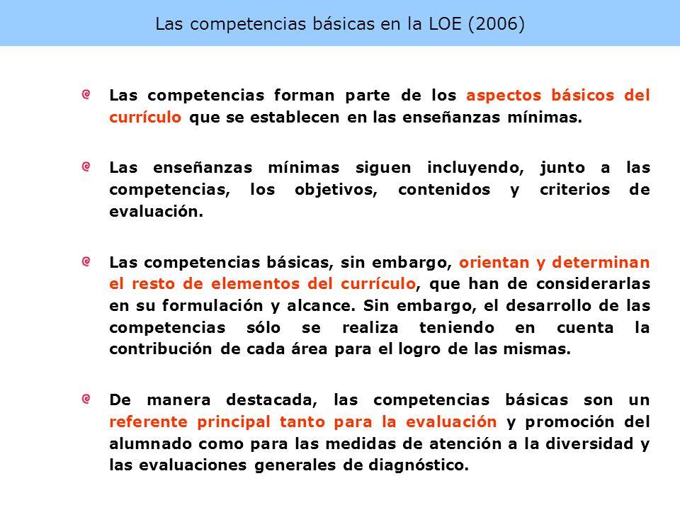 Las competencias básicas en la LOE (2006)