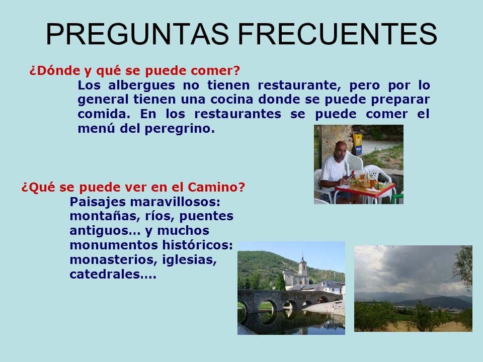PREGUNTAS FRECUENTES ¿Dónde y qué se puede comer