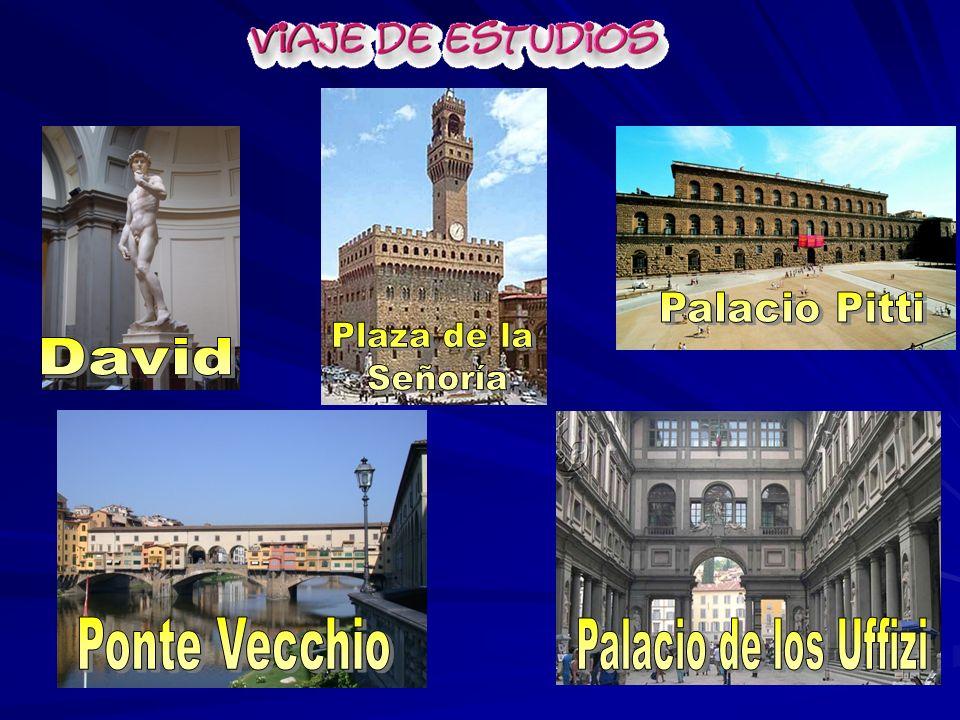 Palacio Pitti Plaza de la Señoría David Ponte Vecchio Palacio de los Uffizi