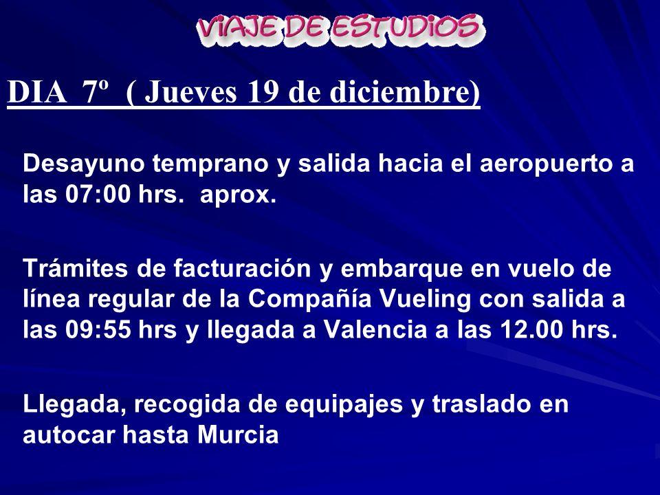 DIA 7º ( Jueves 19 de diciembre)