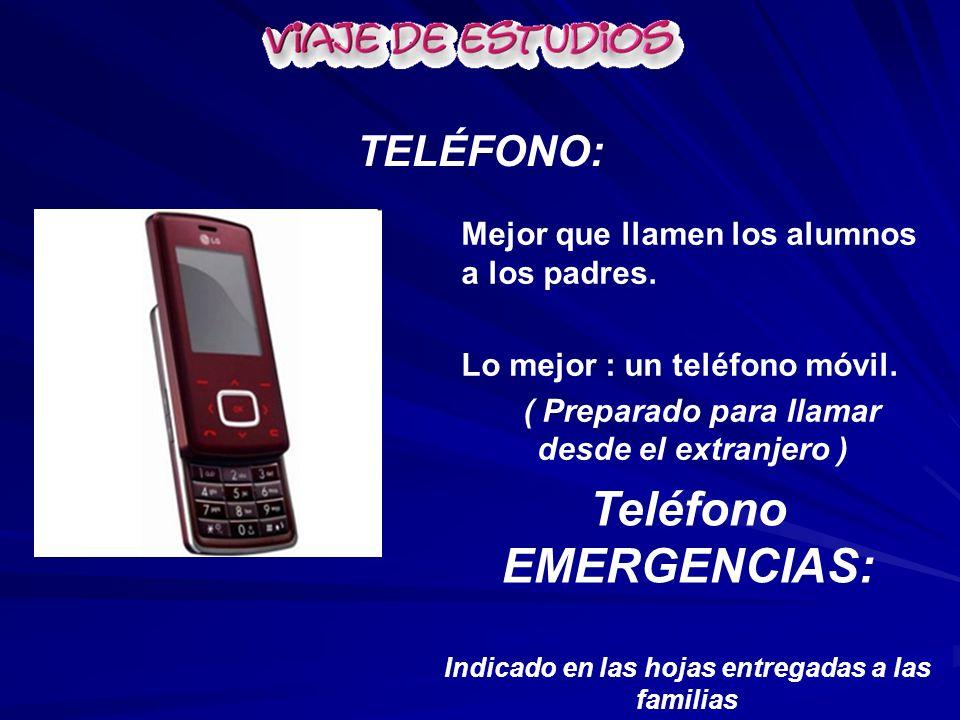 Teléfono EMERGENCIAS: