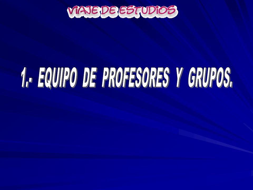 1.- EQUIPO DE PROFESORES Y GRUPOS.