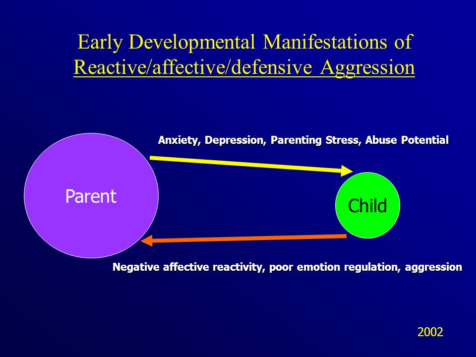 Early Developmental Manifestations of Reactive/affective/defensive Aggression
