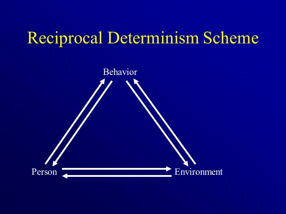 Reciprocal Determinism Scheme