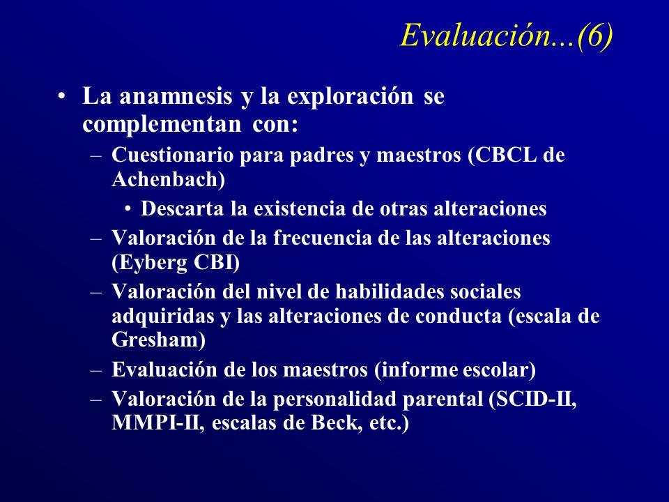 Evaluación...(6) La anamnesis y la exploración se complementan con: