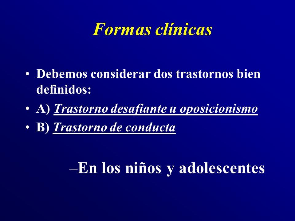 Formas clínicas En los niños y adolescentes