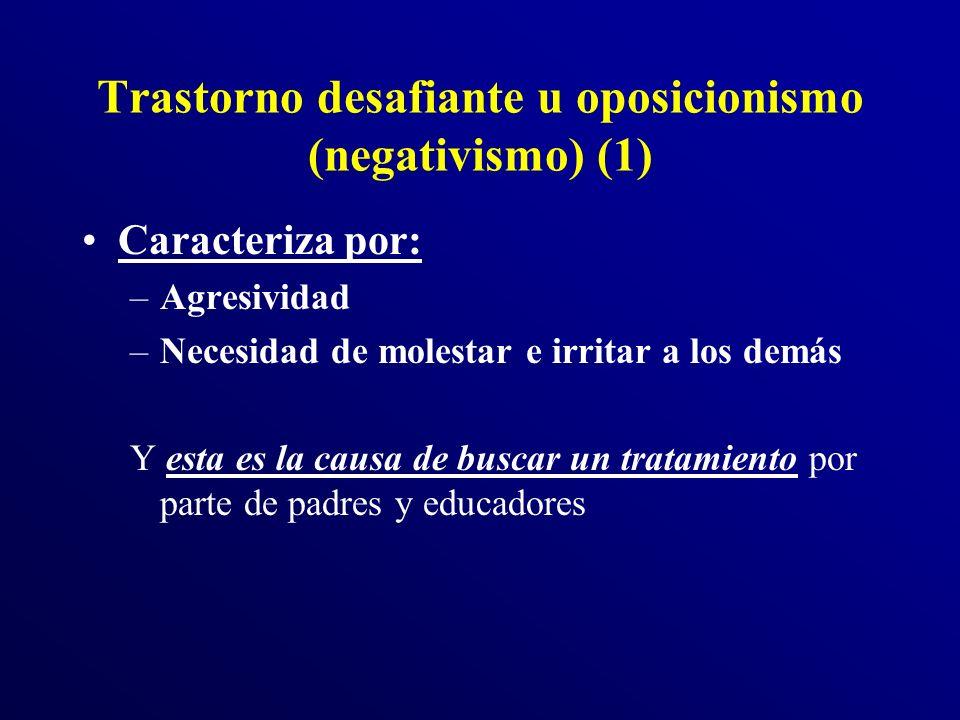 Trastorno desafiante u oposicionismo (negativismo) (1)