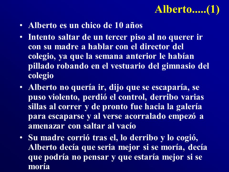 Alberto.....(1) Alberto es un chico de 10 años