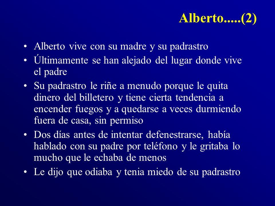 Alberto.....(2) Alberto vive con su madre y su padrastro