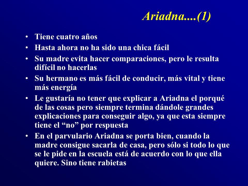 Ariadna....(1) Tiene cuatro años