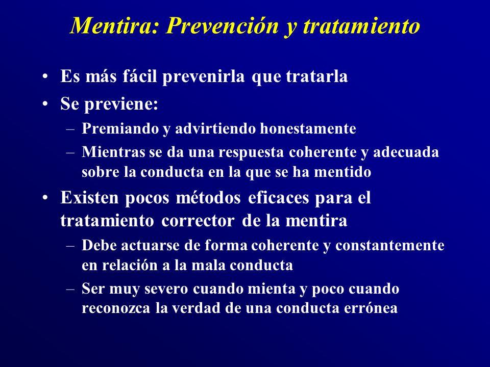 Mentira: Prevención y tratamiento