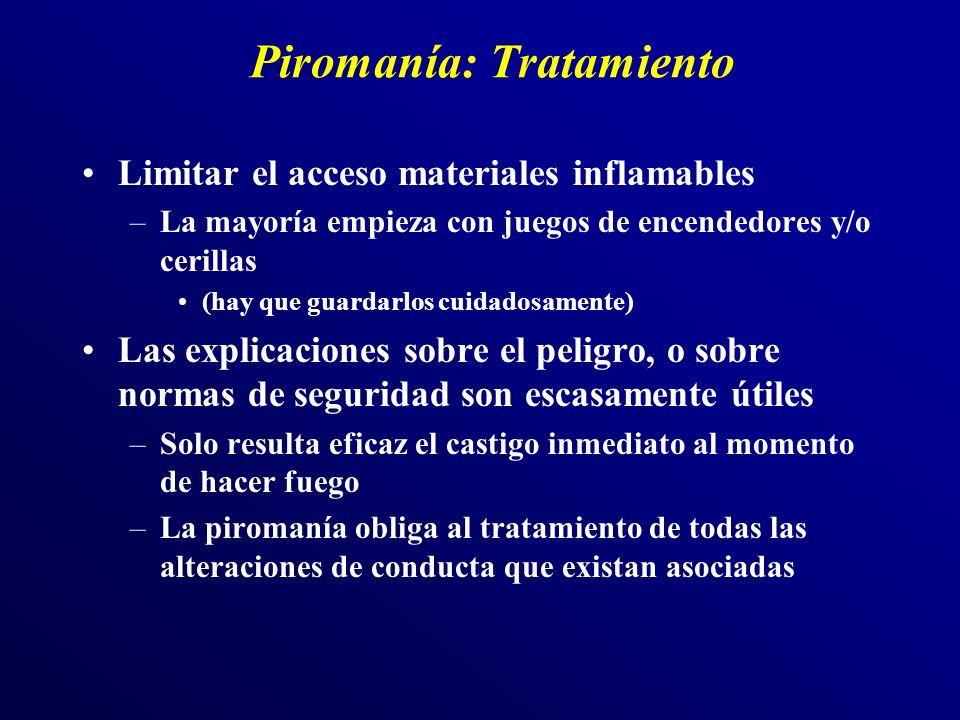 Piromanía: Tratamiento
