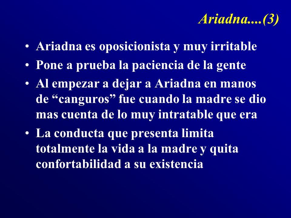 Ariadna....(3) Ariadna es oposicionista y muy irritable