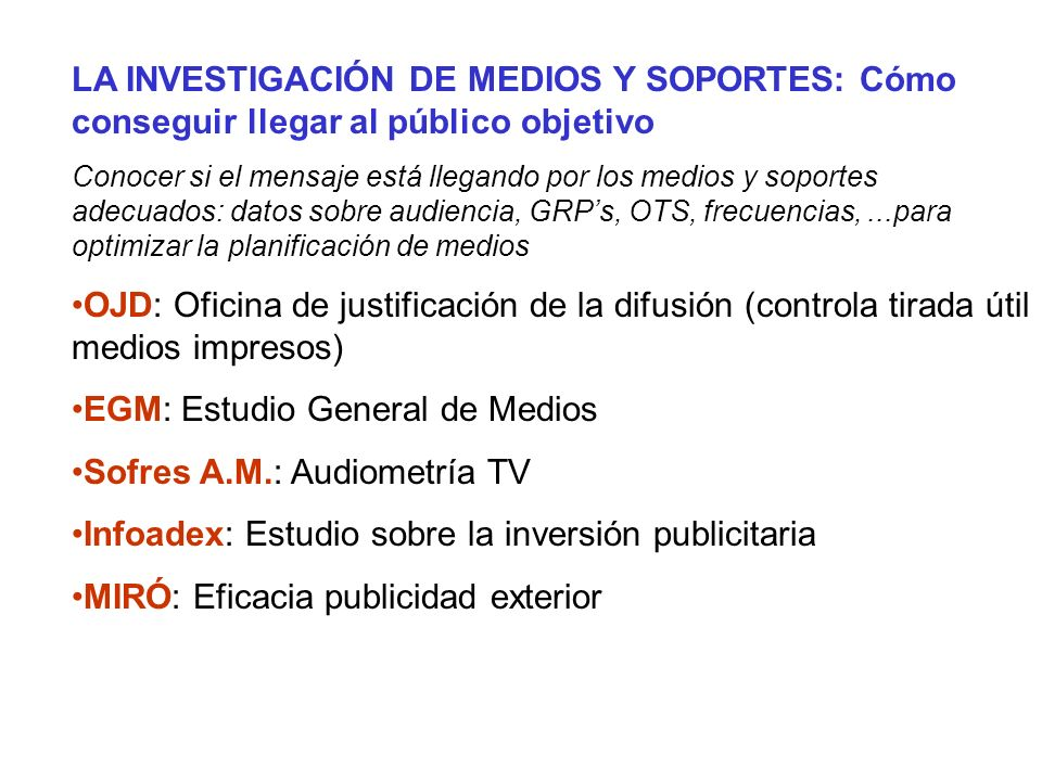 EGM: Estudio General de Medios Sofres A.M.: Audiometría TV