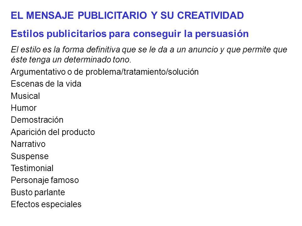 EL MENSAJE PUBLICITARIO Y SU CREATIVIDAD