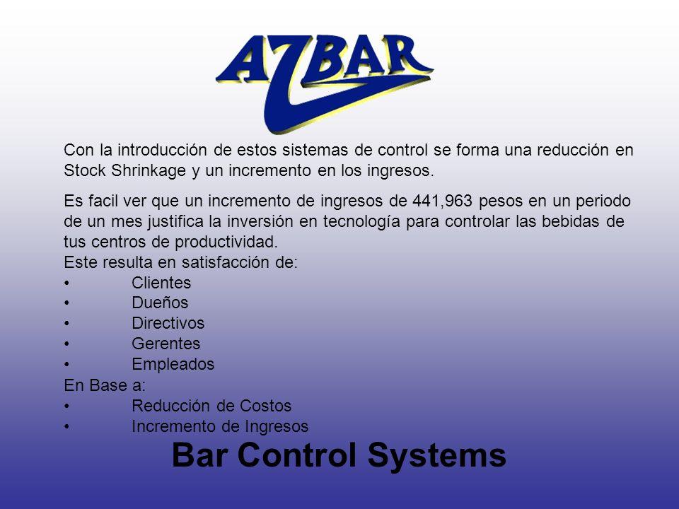Con la introducción de estos sistemas de control se forma una reducción en Stock Shrinkage y un incremento en los ingresos.