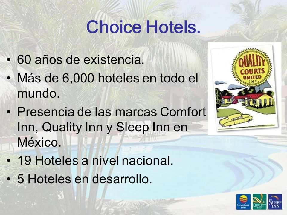 Choice Hotels. 60 años de existencia.