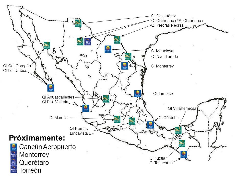 Próximamente: Cancún Aeropuerto Monterrey Querétaro Torreón