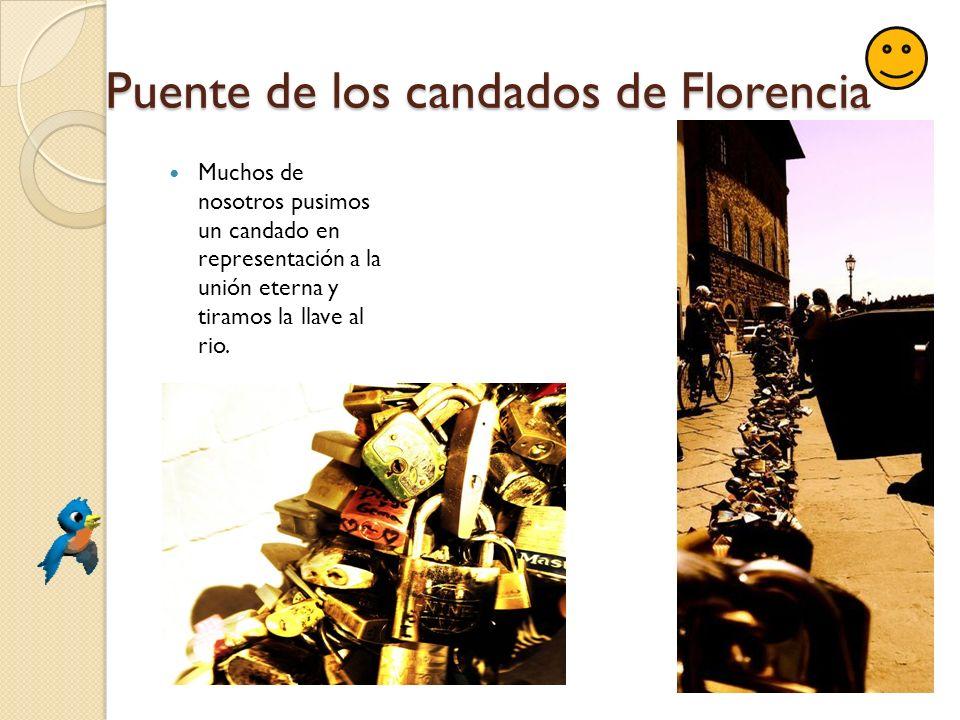 Puente de los candados de Florencia