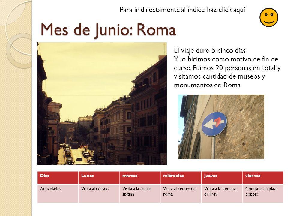 Mes de Junio: Roma Para ir directamente al índice haz click aquí