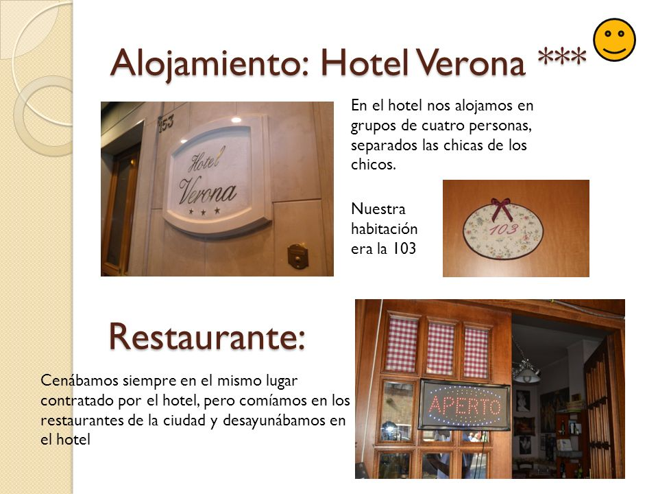 Alojamiento: Hotel Verona ***