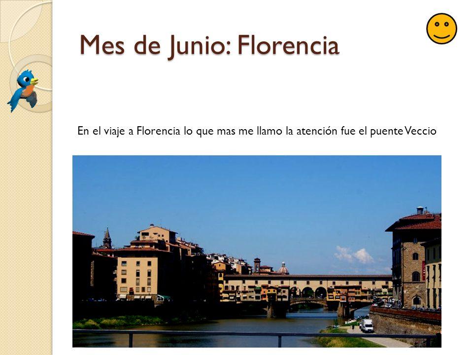 Mes de Junio: Florencia