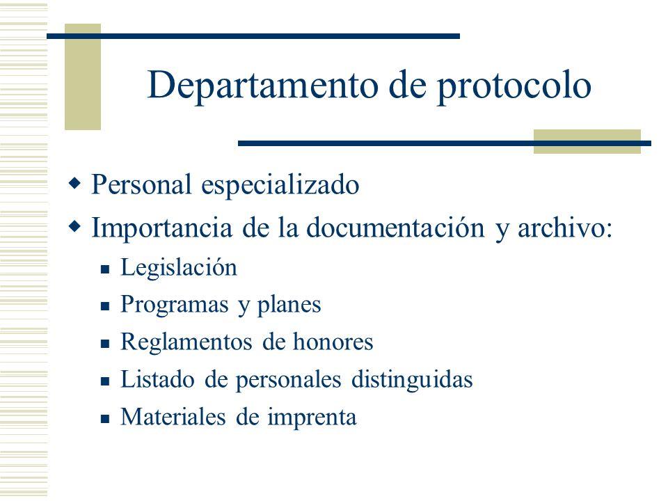 Departamento de protocolo