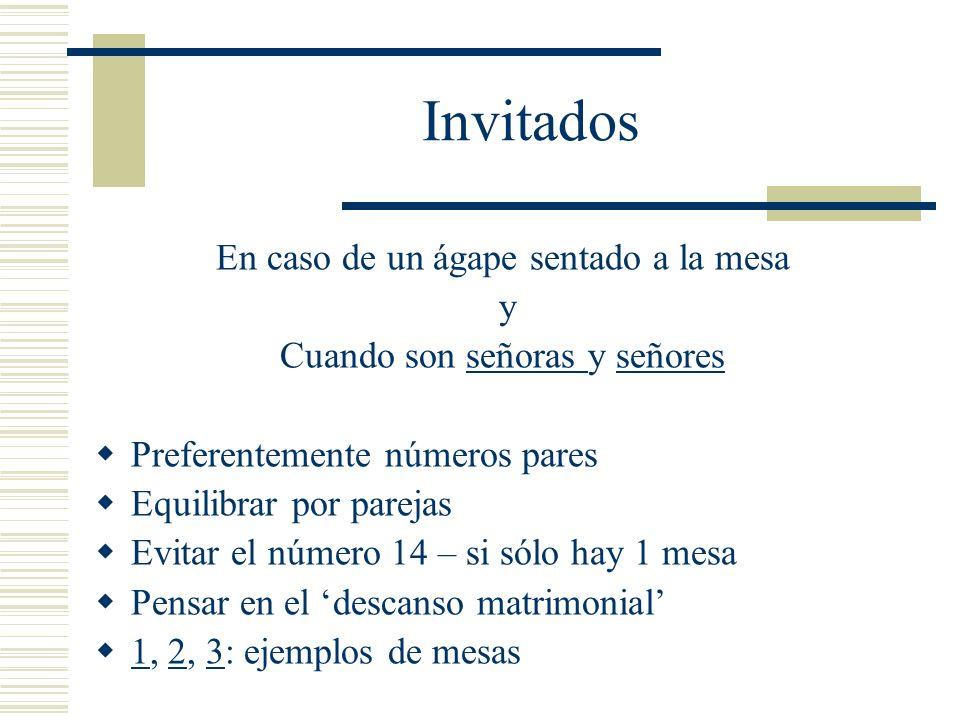Invitados En caso de un ágape sentado a la mesa y