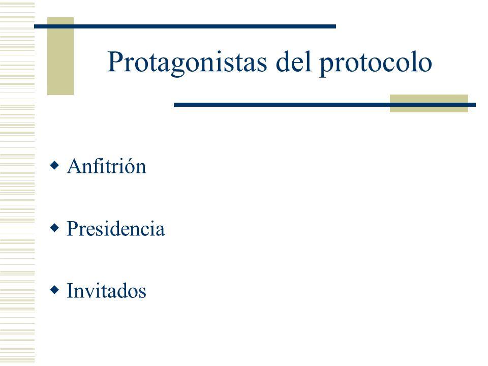 Protagonistas del protocolo
