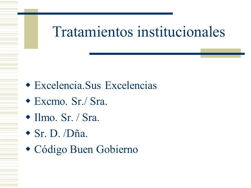 Tratamientos institucionales