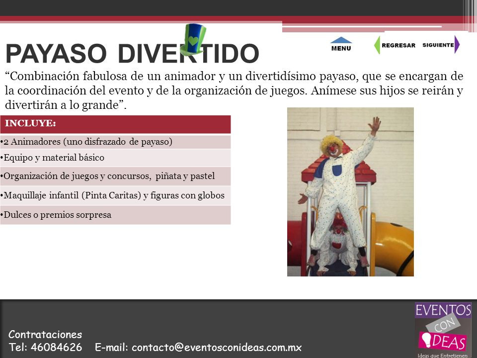 PAYASO DIVERTIDO