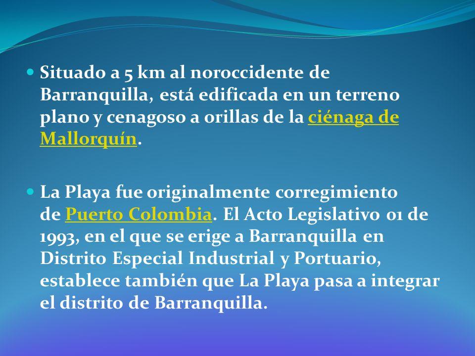 Situado a 5 km al noroccidente de Barranquilla, está edificada en un terreno plano y cenagoso a orillas de la ciénaga de Mallorquín.