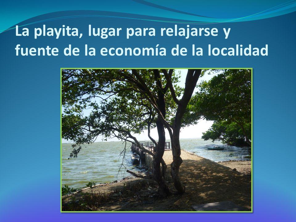 La playita, lugar para relajarse y fuente de la economía de la localidad