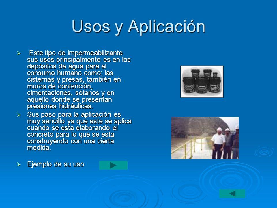 Usos y Aplicación