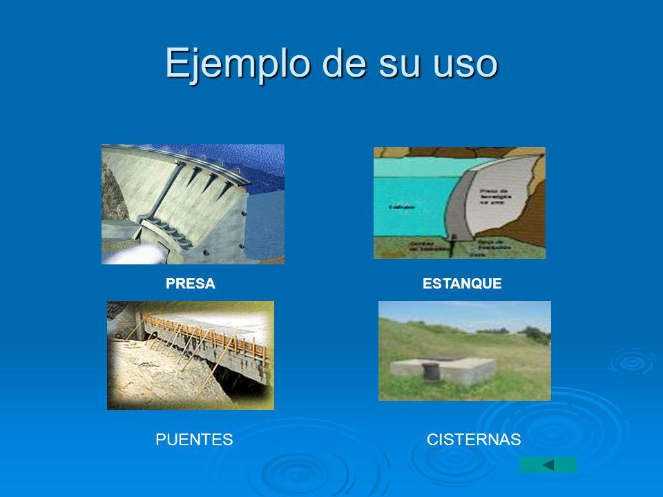 Ejemplo de su uso PRESA ESTANQUE.