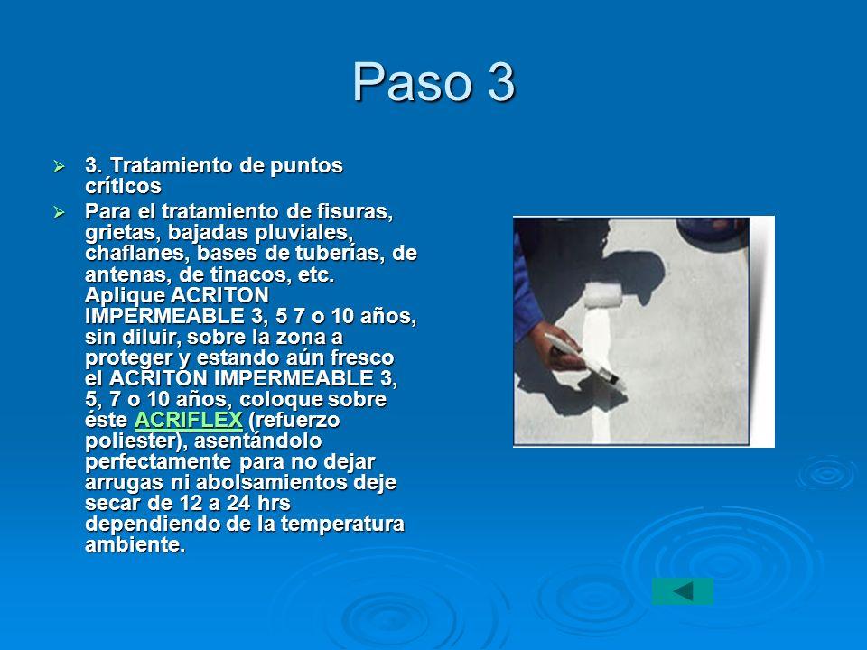 Paso 3 3. Tratamiento de puntos críticos