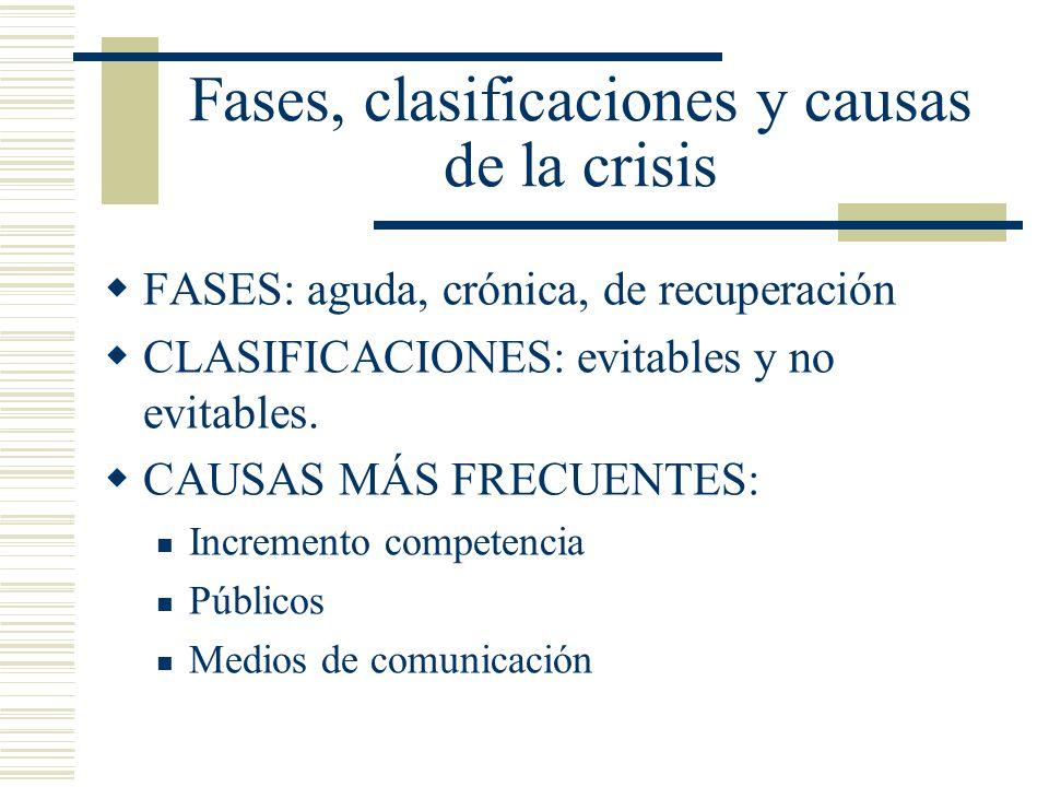 Fases, clasificaciones y causas de la crisis