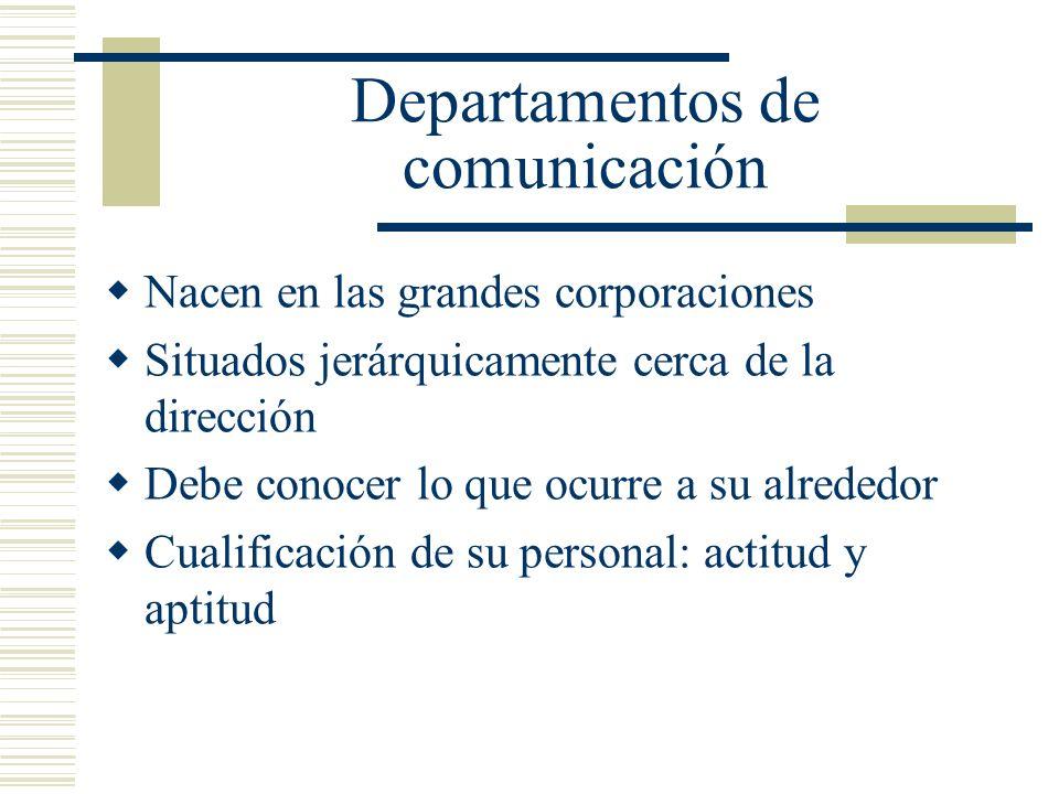 Departamentos de comunicación