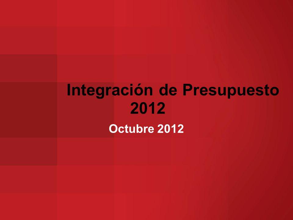 Integración de Presupuesto 2012