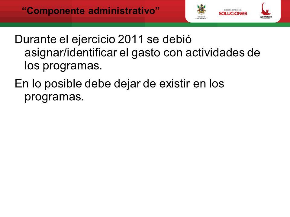 Componente administrativo