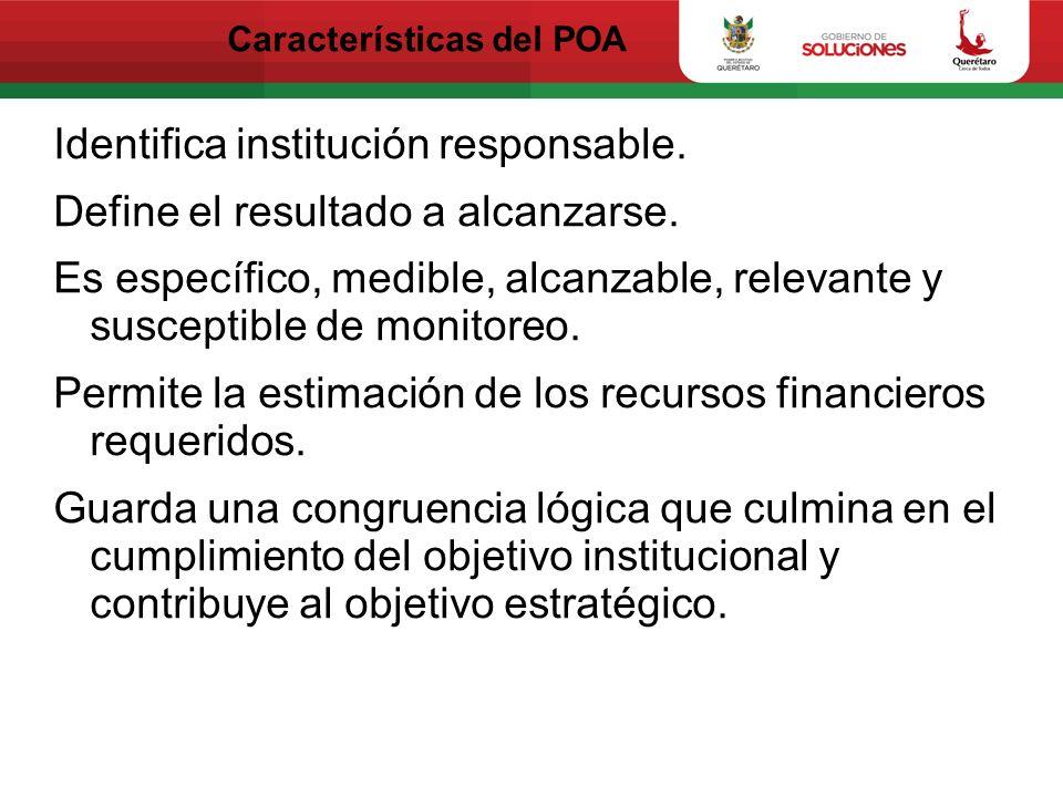 Características del POA