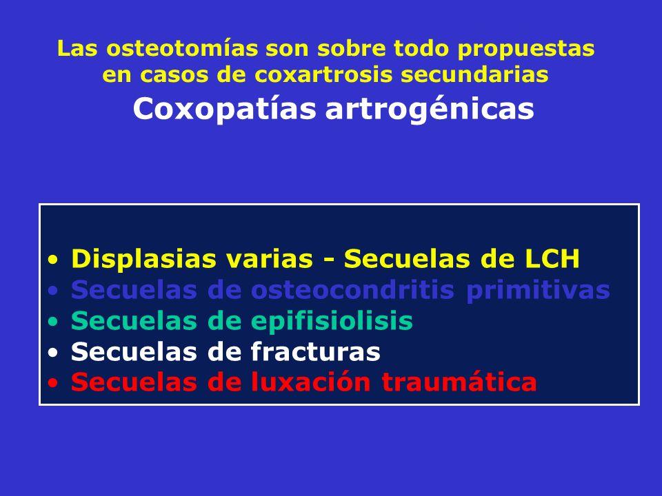 Coxopatías artrogénicas